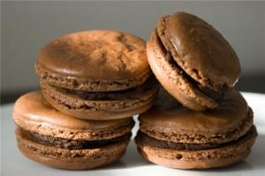 macarons chocolat et garam masala